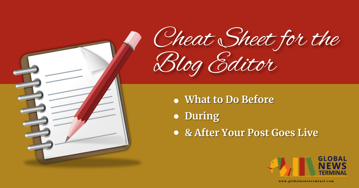 Cheat Sheet for the Blog Editor
